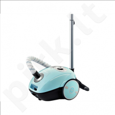 Bosch BGL35MON6 Vacuum cleaner, 600W, 4Ltr capacity,Soft Wheels, PowerProtect, HiSpin, Working Radius 10m, Light Blue
