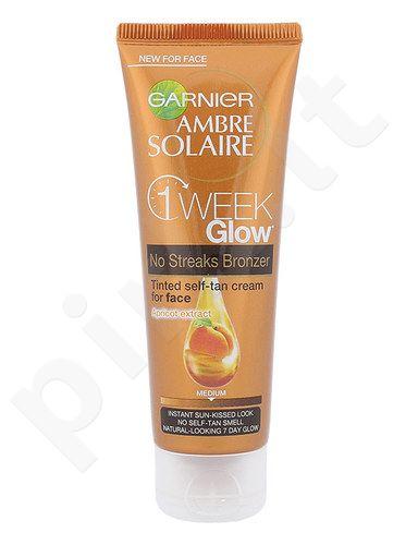 Garnier Ambre Solaire One Week Glow savaiminio įdegio veido kremas, kosmetika moterims, 50ml, (Medium)