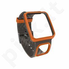 Diželis kardio laikrodžiui TomTom Slim juoda-oranžinis