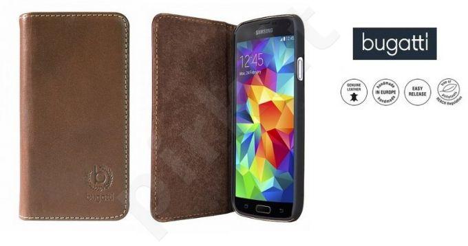 Samsung Galaxy S5 atverčiamas dėklas OSLO Bugatti rudas