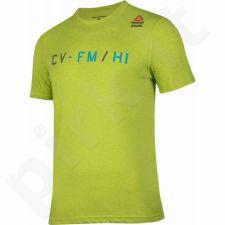 Marškinėliai Reebok CrossFit Performance Blend Graphic Tee M B45180