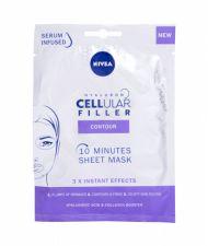 Nivea Hyaluron CELLular Filler, 10 Minutes Sheet Mask, veido kaukė moterims, 1pc