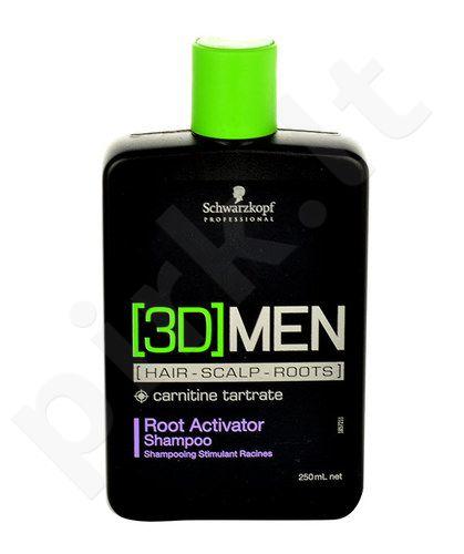Schwarzkopf 3DMEN Root Activator šampūnas, kosmetika vyrams, 250ml