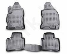 Guminiai kilimėliai 3D FORD Mondeo 2000-2007, 4 pcs. /L19073G /gray