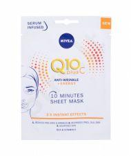 Nivea Q10 Plus C, 10 Minutes Sheet Mask, veido kaukė moterims, 1pc