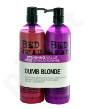 Tigi Bed Head Dumb Blonde shampunas rinkinys moterims, (750ml Bed Head Dumb Blonde shampunas + 750ml Bed Head Dumb Blonde Reconstructor)