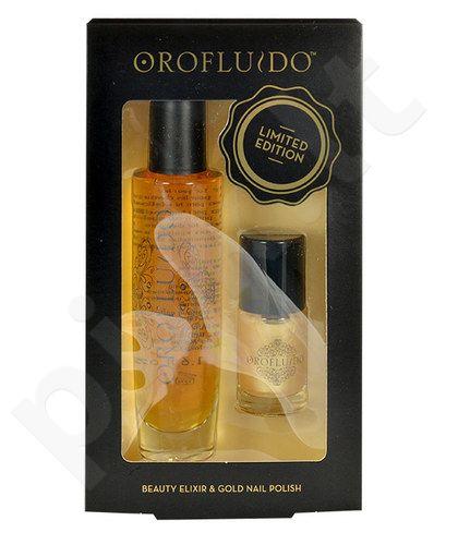 Orofluido Elixir rinkinys moterims, (50ml Beauty Elixir + 10ml nagų lakas Gold)