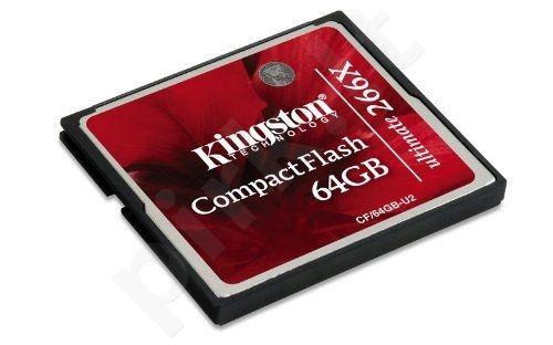 Atminties kortelė Kingston CF Ultimate 64GB, Sparta iki 266x (40/45MBs)