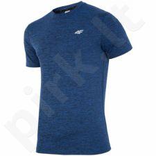 Marškinėliai treniruotėms 4f M H4L17-TSMF002 mėlyna