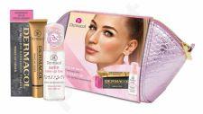 Dermacol Satin, rinkinys makiažo pagrindas moterims, (Make Up Base 30 ml + Make Up Cover SPF30 30 g 207 + kosmetika krepšys)