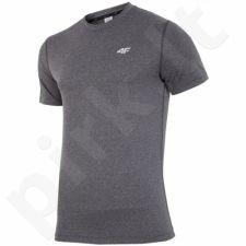 Marškinėliai treniruotėms 4f M H4L17-TSMF002 pilkas