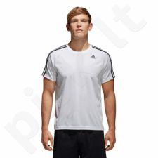 Marškinėliai treniruotėms adidas D2M TEE 3S M BK0971