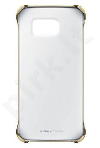 Samsung Galaxy S6 skaidrus dėklas auksinis