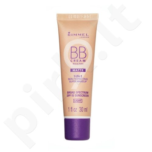 Rimmel London BB kremas 9in1 SPF15, kosmetika moterims, 30ml, (Light)