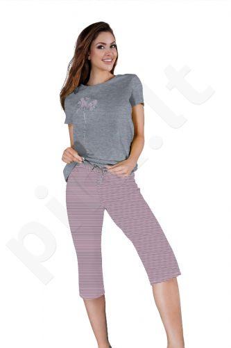 Babella pižama pilkos-rožinės spalvos 3017 (limituota versija)
