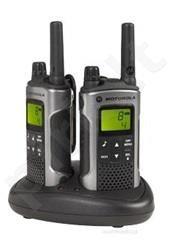 Motorola T80 portatyvios radio stotelės, 10km, 8kanalai