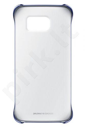 Samsung Galaxy S6 EDGE skaidrus dėklas juodas