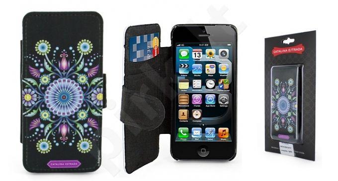 Apple iPhone 5 dėklas flip Catalina juodas