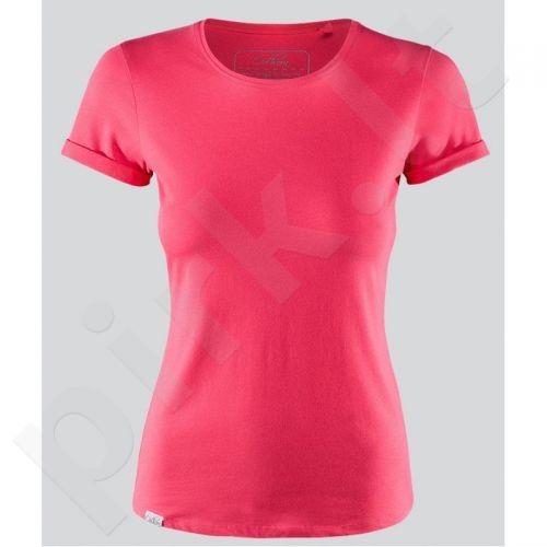 Marškinėliai Outhorn W TOL16-TSD600 rožinės spalvos