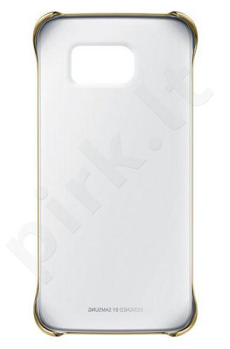 Samsung Galaxy S6 EDGE skaidrus dėklas auksinis