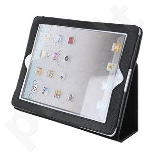 4World dėklas-stovas skirtas iPad 2, du parametrai, juodas