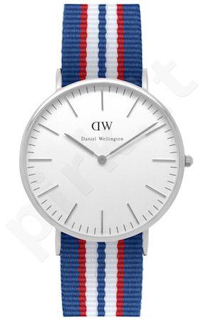 Laikrodis DANIEL WELLINGTON BELFAST SILVER 40 MM