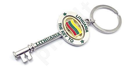 """Raktų pakabukas """"The key to Lithuania"""""""