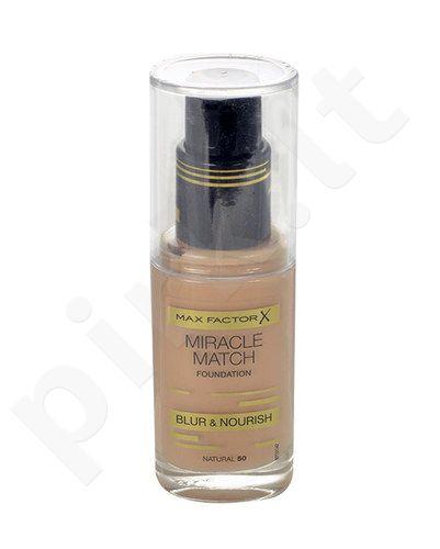 Max Factor Miracle Match Foundation, kosmetika moterims, 30ml, (50 Natural)
