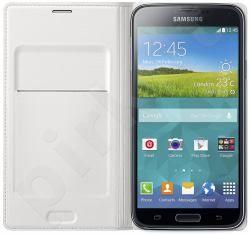 Samsung Galaxy S5 atverčiamas dėklas baltas