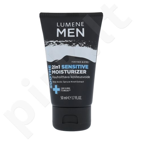 Lumene Men Soothe 2in1 raminantis prausiklis veidui, kosmetika vyrams, 50ml