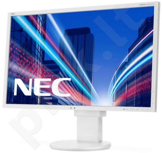 Monitorius NEC MultiSync EA273WMi 27'', LED,FHD, IPS TFT, DVI,HDMI,USB,DP, Balt.
