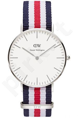 Laikrodis DANIEL WELLINGTON CANTERBURY SILVER 36 MM
