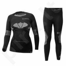 Komplektas apatinių drabužių termoaktyvūs THERMO Wisser Junior juoda-pilka