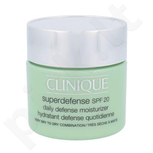 Clinique Superdefense SPF20 drėkinamasis labai sausai veido odai kremas, kosmetika moterims, 75ml