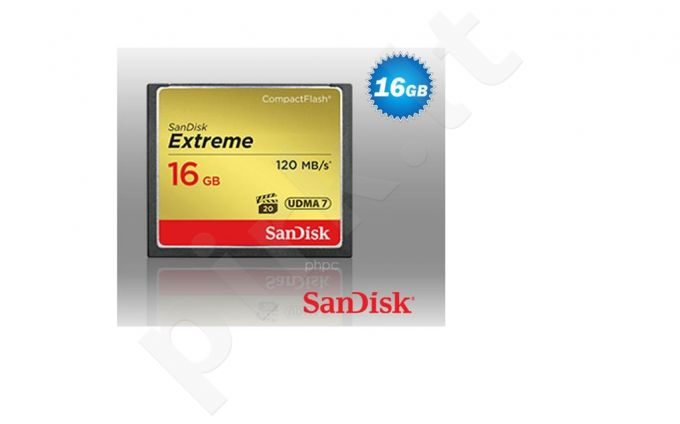 SanDisk Compact Flash Extreme 16GB UDMA7 (transfer 120MB/s)