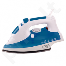 Adler AD 5022 Steam iron, Durable stainless steel soleplate, Self-Clean, Anti-Calc, Continuous steam, Power 2200W