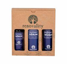 Renovality Original Series, rinkinys veido valiklis moterims, (makiažo valiklis Serum 200 ml + Hyaluron Serum 50 ml + Rose Water 100 ml)