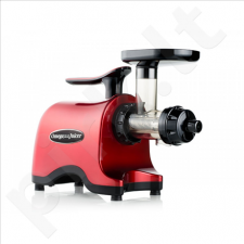 OMEGA Twin gear Juicer, Red/ 160 RPM