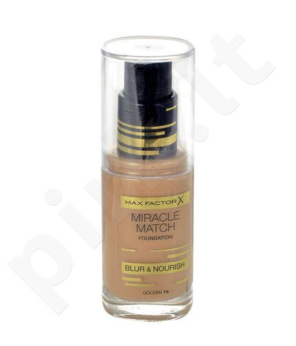 Max Factor Miracle Match Foundation, kosmetika moterims, 30ml, (75 Golden)