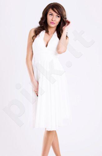 EVA&LOLA suknelė - balta 11007-3