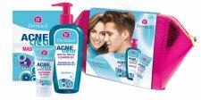 Dermacol Cleansing Gel, AcneClear, rinkinys prausiamoji želė moterims, (želė makiažo valiklis 200 ml + Hydrating želė-kremas 50 ml + Facial Mask 2 x 8 g + kosmetika krepšys)