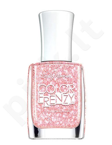 Sally Hansen Color Frenzy Nail Color, kosmetika moterims, 11,8ml, (340 raudonas White & Hue)