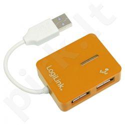 Šakotuvas LogiLink USB 4 portai ''Smile'' oranžinis