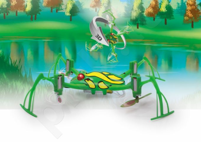 Radio bangomis valdomas Jamara Loony Frog 3D AHP+ dronas