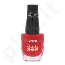 Astor Quick & Shine nagų lakas, kosmetika moterims, 8ml, (611 Raise A Glass)