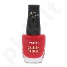 Astor Quick & Shine nagų lakas, kosmetika moterims, 8ml, (611 Raise A Glass)