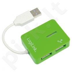 Šakotuvas LogiLink USB 4 portai ''Smile'' žalias