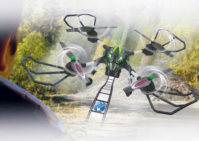 Radio bangomis valdomas Jamara Oberon Altitude AHP dronas su HD kamera, juodas/žalias