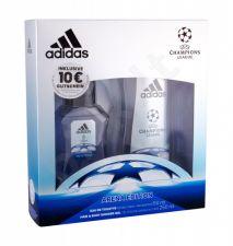 Adidas Arena Edition, UEFA Champions League, rinkinys tualetinis vanduo vyrams, (EDT 50 ml + dušo želė 250 ml)