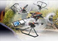 Radio bangomis valdomas Jamara Oberon Altitude AHP dronas su HD kamera, juodas/oranžinis
